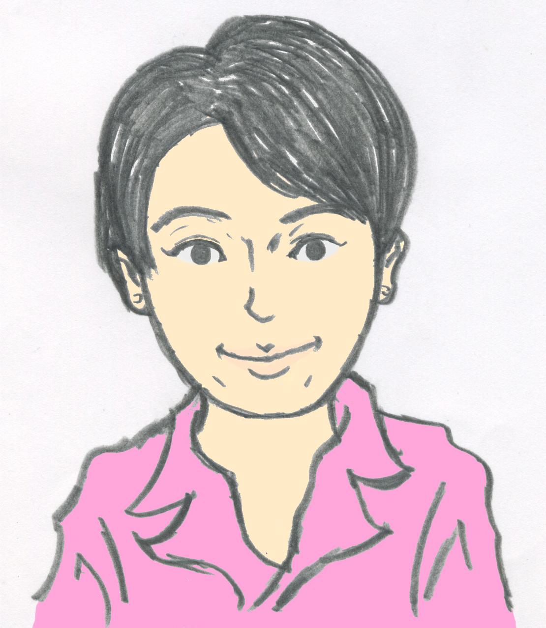 柿沼 章子の似顔絵