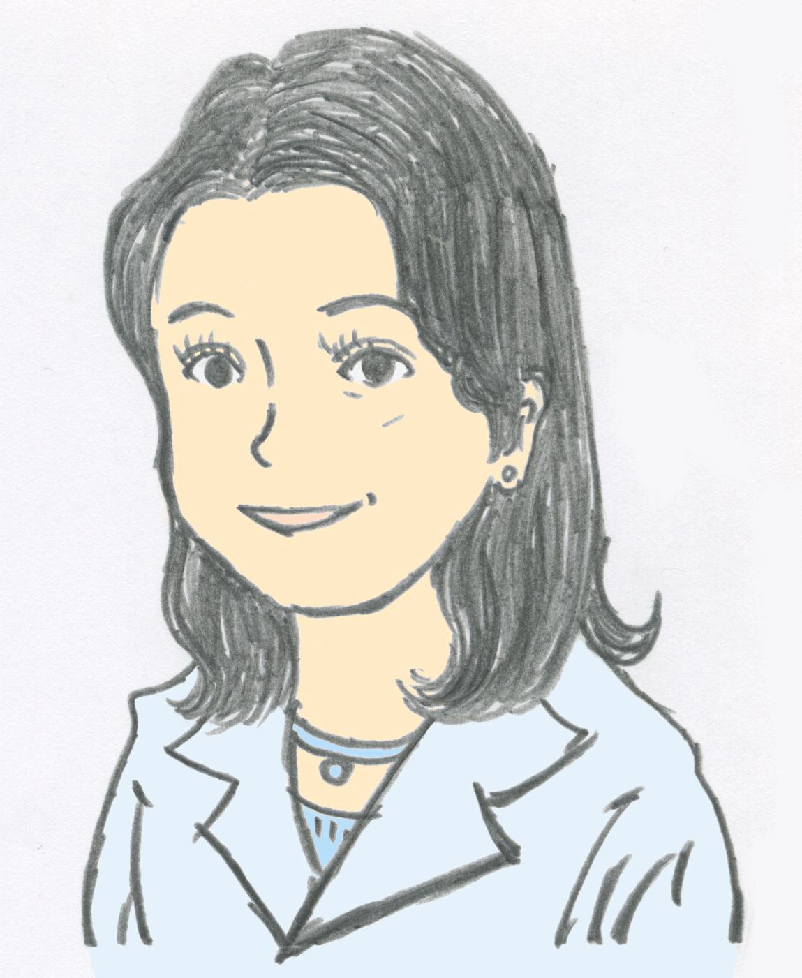 野坂(篠澤) 圭子の似顔絵